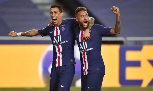 Angel Di Maria et Neymar lors de la demi-finale de Ligue des Champions