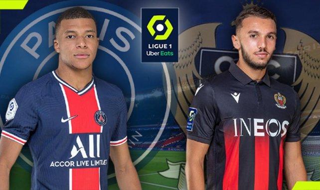 Kylian Mbappé (PSG) et Amine Gouiri (OGC Nice)