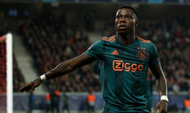Quincy Promes lors d'un match de l'Ajax Amsterdam