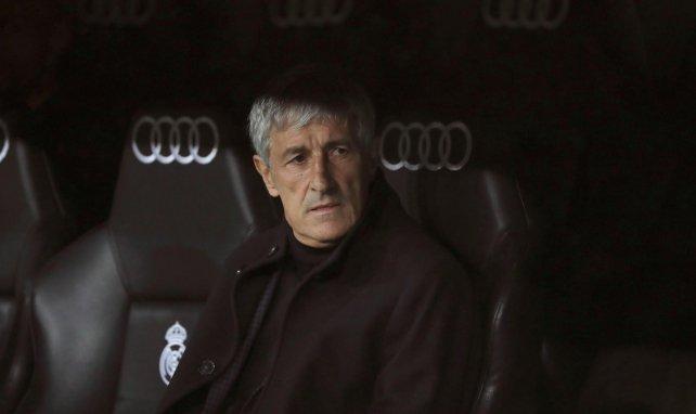 Quique Setién sur le banc du FC Barcelone