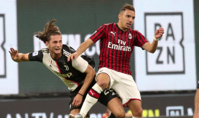 Adrien Rabiot lors du choc entre la Juventus et Milan