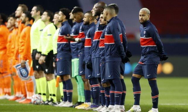 Les joueurs du PSG lors du match face à Istanbul Basaksehir