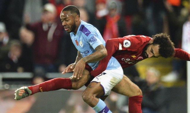Raheem Sterling à la lutte avec Mohamed Salah en Premier League