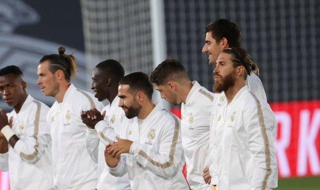 Sergio Ramos, Dani Carvajal et Ferland Mendy sous le maillot du Real Madrid