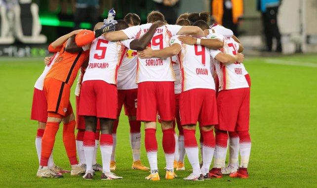 Le RB Leipzig avant le match face au Borussia Mönchengladbach