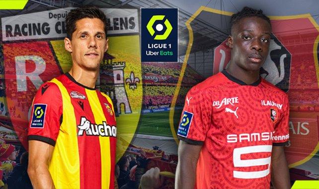 Florian Sotoca (RC Lens) et Jérémy Doku (Stade Rennais)