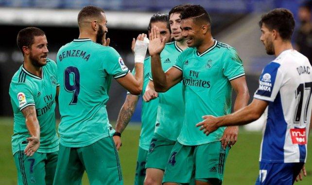 Casemiro et Benzema face à l'Espanyol avec le Real Madrid