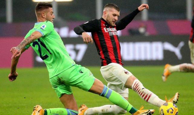 Ante Rebić lors du match AC Milan-Lazio