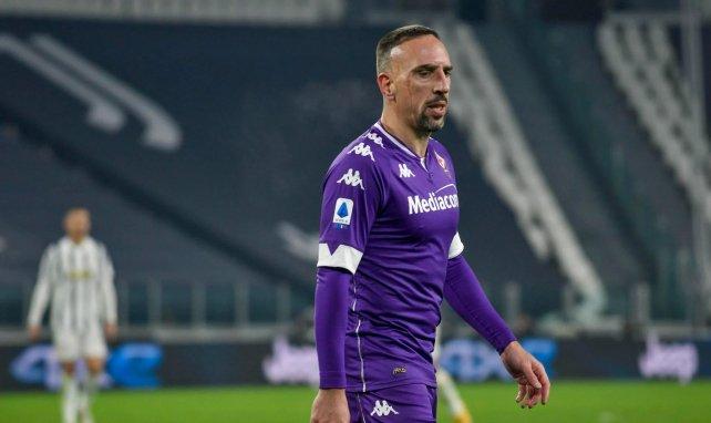 Franck Ribéry avec le maillot de la Fiorentina