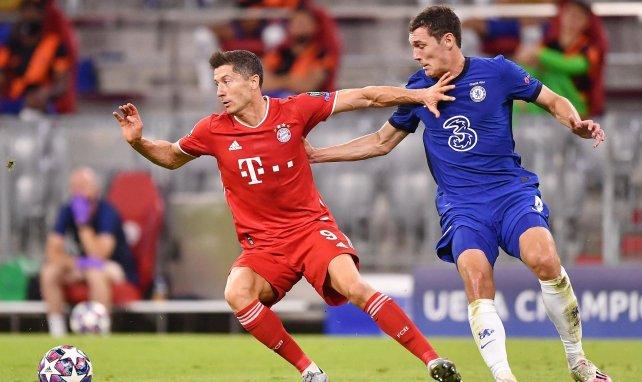 Robert Lewandowski en Ligue des Champions face à Chelsea, en août 2020
