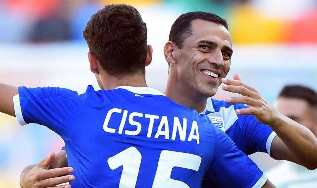 Rômulo, qui célèbre ici un but avec Cistana sous les couleurs de Brescia, se livre pour FM