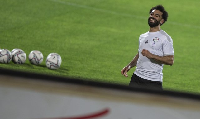 Mohamed Salah à l'échauffement avec la sélection égyptienne