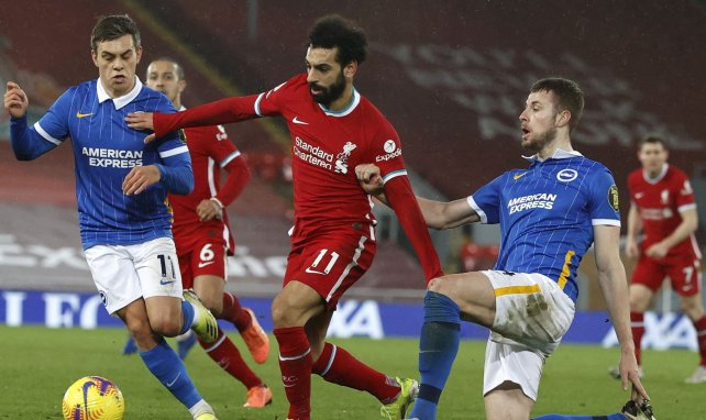 Mohamed Salah lors du match Liverpool-Brighton