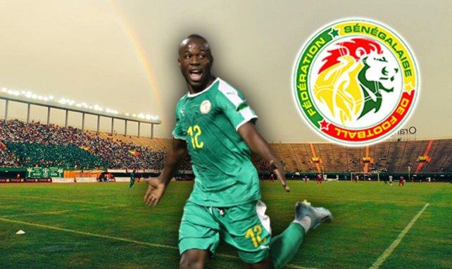 Samba Diallo sous le maillot du Sénégal