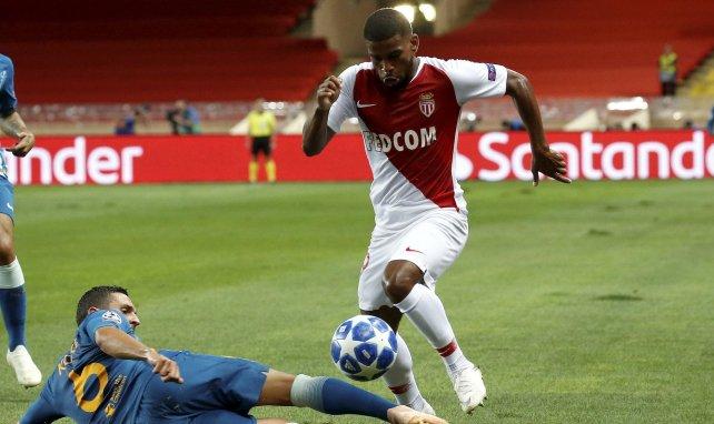 Samuel Grandsir avec Monaco lors d'un match de Champions League