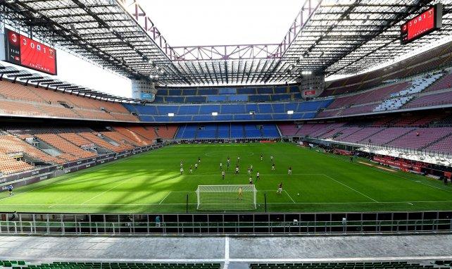 Le stade de l'AC Milan et de l'Inter lors d'un match à huis clos
