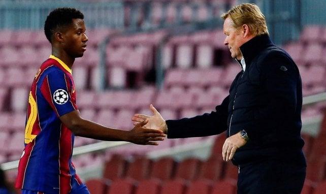 FC Barcelone : Ronald Koeman veut laisser du temps à Ansu Fati