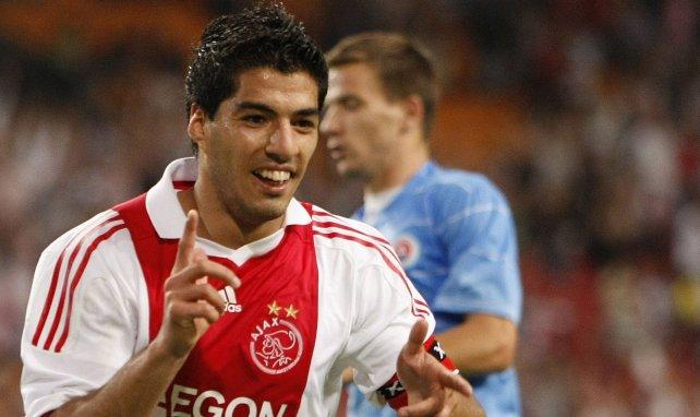 Luis Suarez sous le maillot de l'Ajax Amsterdam