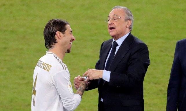 Sergio Ramos salue Florentino Pérez