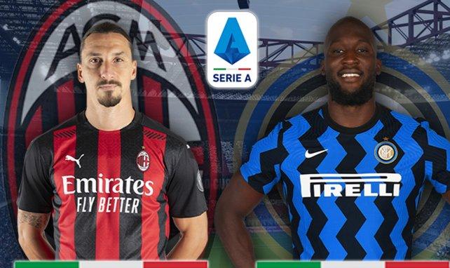 Zlatan Ibrahimović (AC Milan) et Romelu Lukaku (Inter Milan)