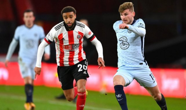 Timo Werner avec Chelsea contre Sheffield United