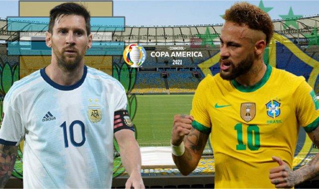 Lionel Messi et l'Argentine face à Neymar et son Brésil
