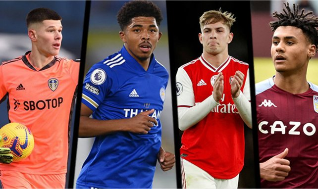 Illan Meslier (Leeds), Wesley Fofana (Leicester), Emile Smith Rowe (Arsenal) et Ollie Watkins (Aston Villa).