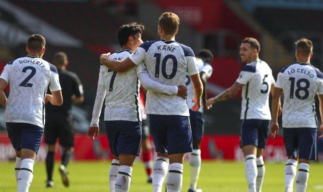 Harry Kane et Heung-min Son lors de la rencontre entre Southampton et Tottenham