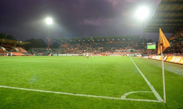 Le Stade du Moustoir pendant Lorient-Ajaccio