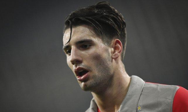 Dominik Szoboszlai lors du match de C1 face à l'Atlético de Madrid