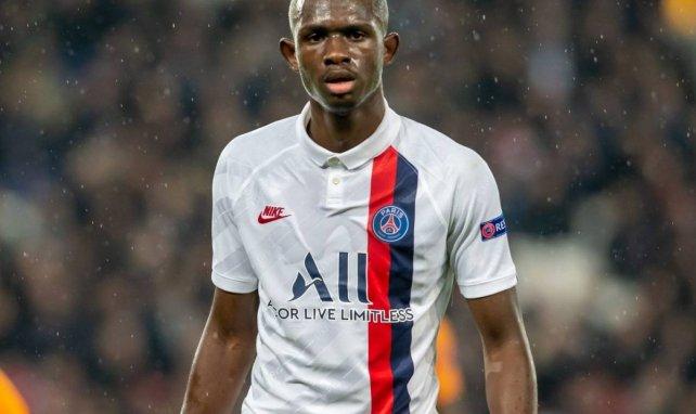 Tanguy Kouassi avec le PSG en Ligue des Champions