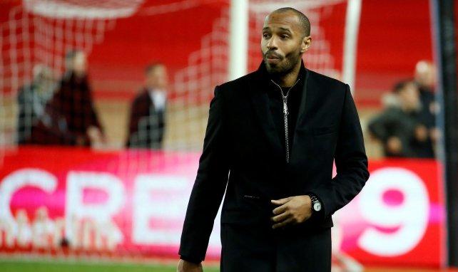 Thierry Henry lors d'une rencontre entre Monaco et Guingamp