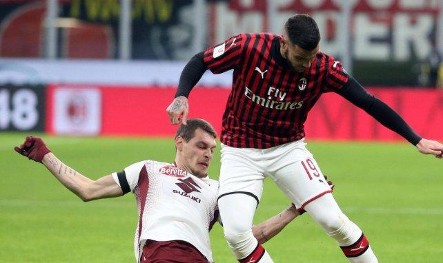 Theo Hernández avec l'AC Milan