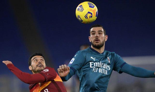 Theo Hernandez lors du match contre l'AS Roma fin février