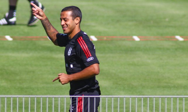 Thiago Alcantara à l'entraînement du Bayern Munich