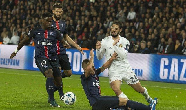 Serge Aurier et Thiago Motta ici en Ligue des Champions en octobre 2015 face au Real Madrid