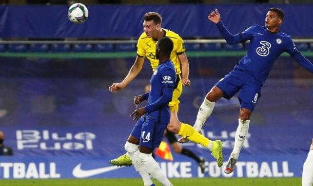 Thiago Silva lors de son premier match avec Chelsea