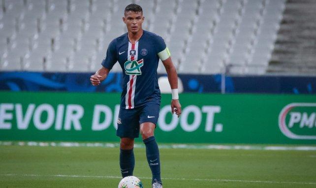 Thiago Silva pendant la finale de Coupe de France 2020