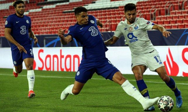 Thiago Silva pendant la rencontre