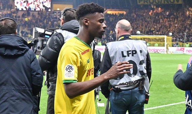 Thomas Basila sous les couleurs du FC Nantes.