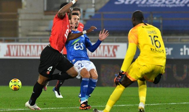 Adrien Thomasson en action lors de Strasbourg-Rennes
