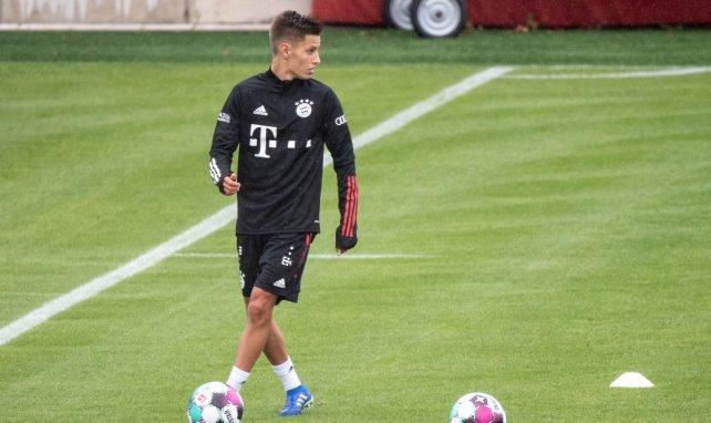 Tiago Dantas à l'entraînement du Bayern Munich