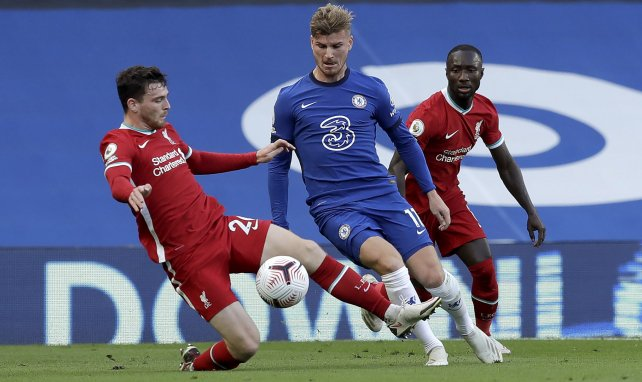 Tim Werner face à Liverpool