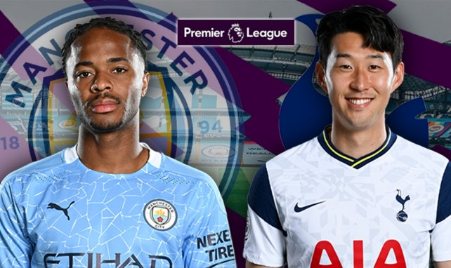 Raheem Sterling (Manchester City) et Heung-min Son (Tottenham)