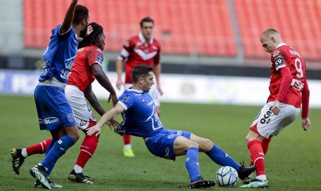 Le duel Valenciennes-Troyes au Stade du Hainaut le 20 février 2021