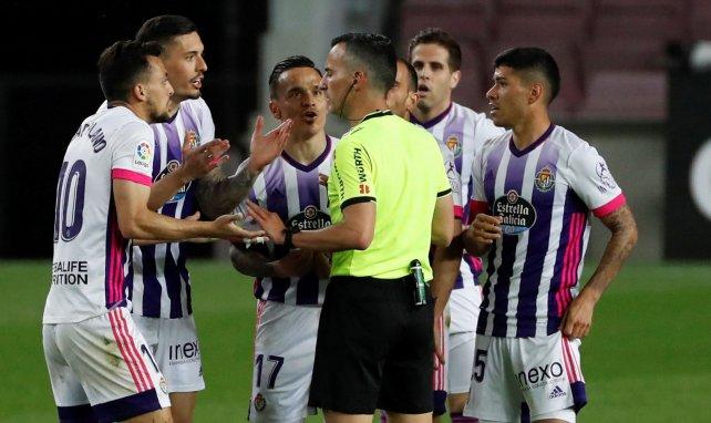 Les joueurs de Valladolid n'ont pas compris les décisions de l'arbitre