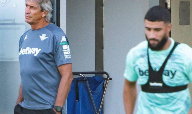 Manuel Pellegrini et Nabil Fekir à l'entraînement du Betis