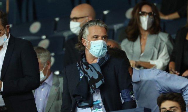 Vincent Labrune lors de la rencontre entre le PSG et l'OM
