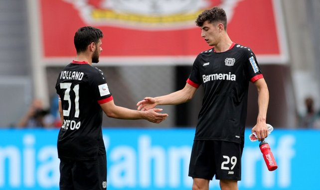 Kevin Volland et Kai Havertz lors d'un match du Bayer Leverkusen
