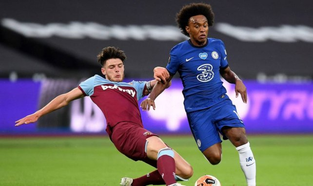 Willian avec Chelsea contre West Ham